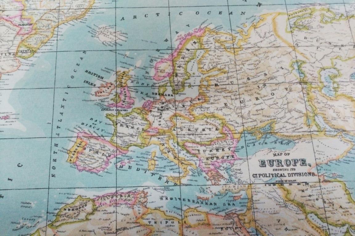 Mapa Mundi Turquesa