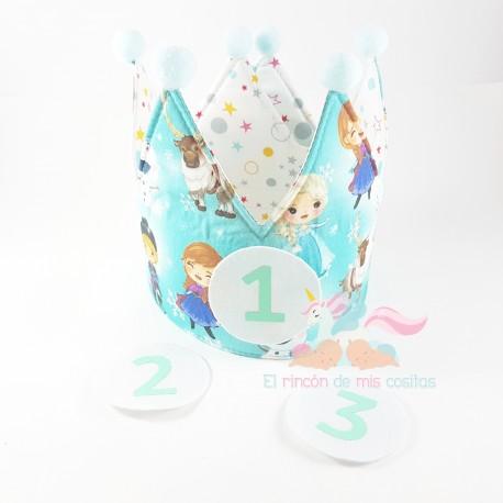 """Corona cumpleaños """"Disney Frozen"""""""