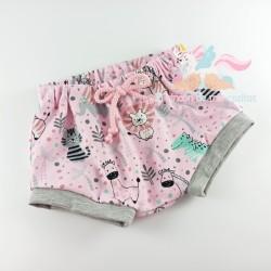 """Pantalón mini """"Mix animals pink"""""""