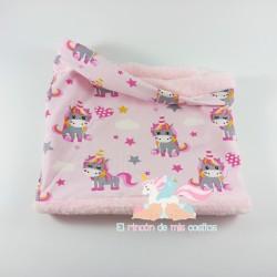 "Cuello polar ""Unicornios rosa"""
