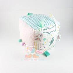 "Cubo Sensorial ""Animales pastel"""