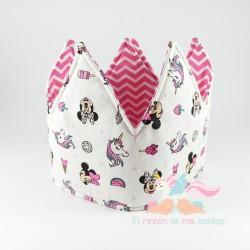 "Corona cumpleaños ""Minnie unicornios"""