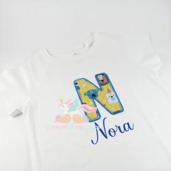Camiseta cumpleañera letra