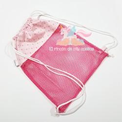 Mochila de tela Rejilla Pink