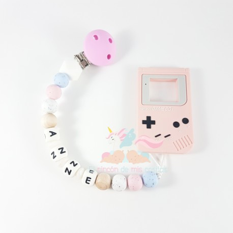 """Pack silicona """"GAME-BOY PINK"""""""