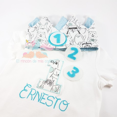 "Pack Camiseta + Corona ""ANIMALS MINT"""
