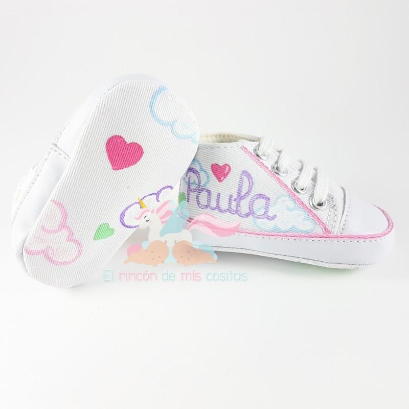 Cosas De Bebe Personalizadas.Zapatillas Personalizadas