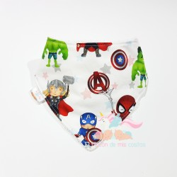 "Babero bandana ""Superhéroes Marvel"""