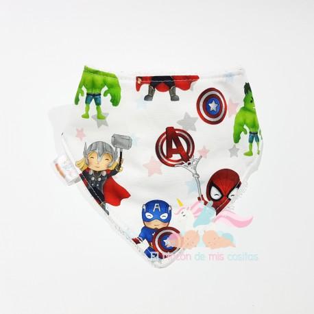 """Babero bandana """"Superhéroes Marvel"""""""