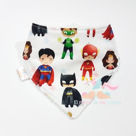 "Babero bandana ""Superhéroes DC"""