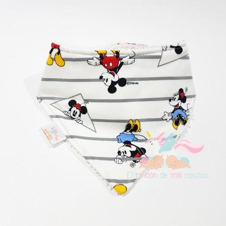 "Babero bandana ""Mickey y Minnie"""