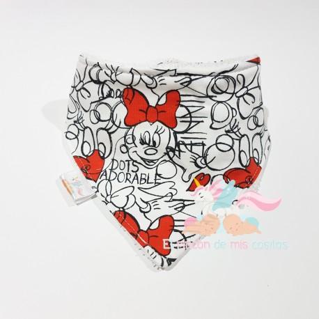 "Babero bandana ""Minnie mouse"""