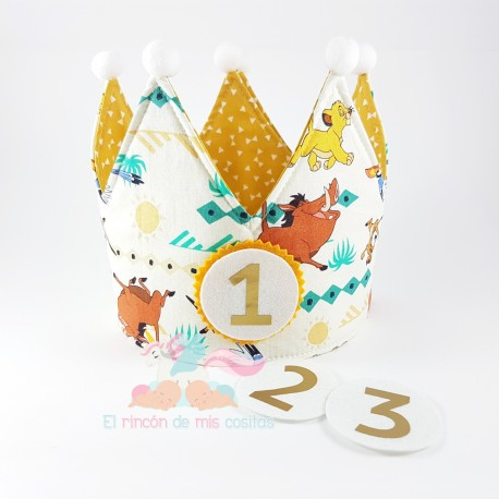 "Corona cumpleaños ""El Rey Leon"" Ed. limitada"