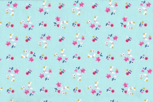 Mini flores azul